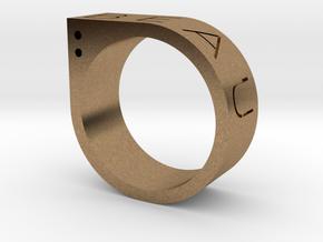 Biau Ring in Natural Brass