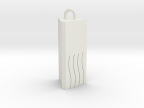 Fifth Element - Fire Stone in White Natural Versatile Plastic