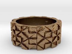 Futuristic Ring Size 4.5 in Natural Brass