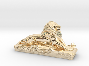 Lion sculpture  in 14k Gold Plated Brass