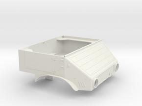 Unimog U401 Fahrerhaus 1:10 in White Natural Versatile Plastic