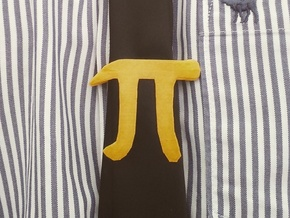 Pi Clip in Yellow Processed Versatile Plastic