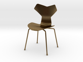Grand Prix Style Stacking Chair 1/12 Scale in Natural Bronze