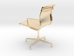 Aluminium Group Style Chair 1/12 Scale in 14k Gold Plated Brass