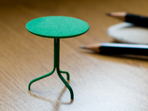 Lamino Style Side Table 1/12 Scale in Green Processed Versatile Plastic