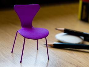 Series 7 Style Chair 1/12 Scale in Purple Strong & Flexible Polished