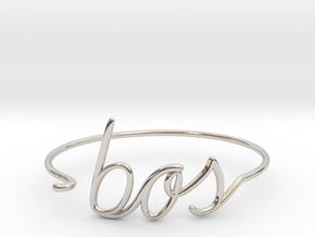 BOS Wire Bracelet (Boston) in Rhodium Plated Brass