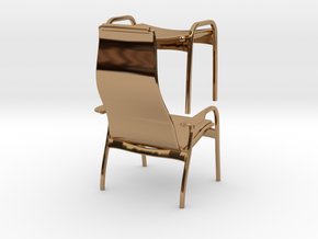Lamino Style Chair & Stool 1/12 Scale in Polished Brass
