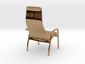 Lamino Style Chair 1/12 Scale in Polished Brass