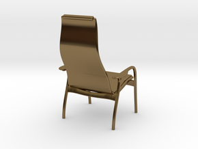 Lamino Style Chair 1/12 Scale in Polished Bronze