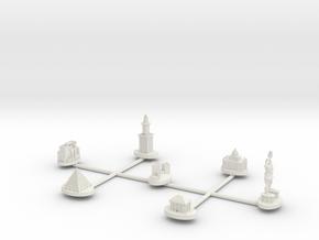 Wonders With Big Pyramid in White Natural Versatile Plastic