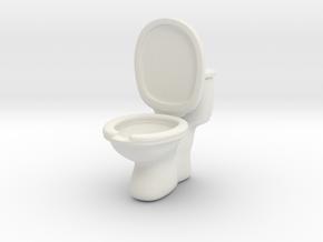 Toilet ashtray(removable tank cover) in White Natural Versatile Plastic