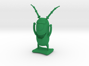 Plankton in Green Processed Versatile Plastic