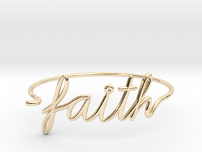 Faith Wire Bracelet in 14k Gold Plated Brass