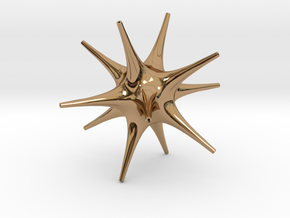 Star in Polished Brass