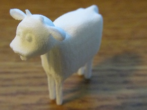 Cow in White Natural Versatile Plastic