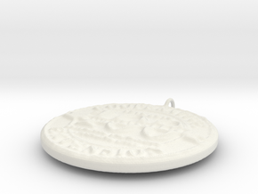4H Medallion, Small in White Strong & Flexible