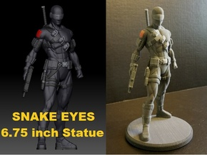 Snake Eyes of G.I. Joe 6.75 Inch Statue in Full Color Sandstone