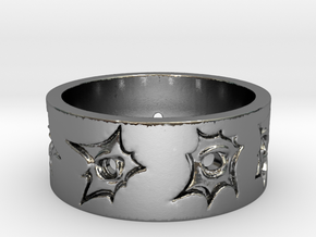 Outlaw Bullet Holes Ring Size 12 in Polished Silver