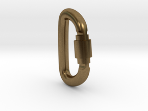 Carabiner Pendant (Large) in Natural Bronze