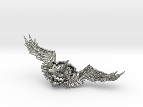Wings badge in Natural Silver