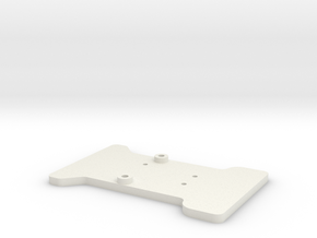 '91 Worlds Conversion - Chassis Cutting Template in White Natural Versatile Plastic