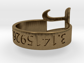 PI RIng Silver Size 6 in Natural Bronze