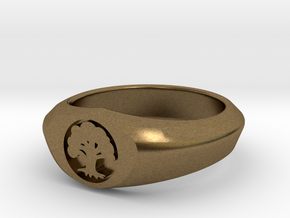 MTG Forest Mana Ring (Size 15 1/2) in Natural Bronze