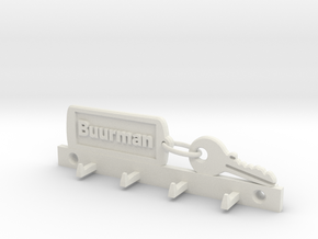 Key Chain Keyholder fam Buurman in White Strong & Flexible