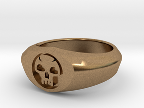 MTG Swamp Mana Ring (Size 8) in Natural Brass