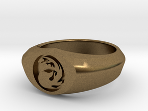 MTG Mountain Mana Ring (Size 8) in Natural Bronze