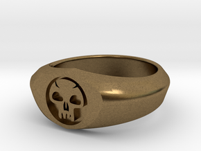 MTG Swamp Mana Ring (Size 9) in Natural Bronze