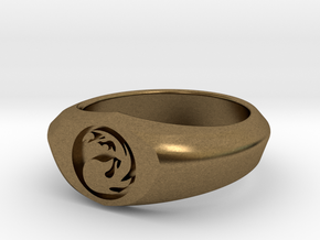 MTG Mountain Mana Ring (Size 10) in Natural Bronze