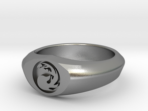 MTG Mountain Mana Ring (Size 12) in Natural Silver