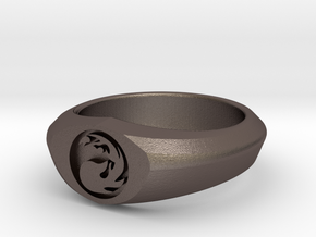 MTG Mountain Mana Ring (Size 12) in Stainless Steel