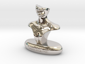 Smile  in Rhodium Plated Brass