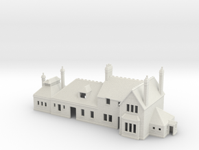 Corfe Castle railway station N Scale 1:148 in White Natural Versatile Plastic