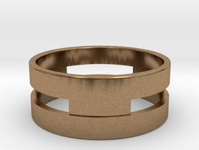 Ring g3 Size 7.5 - 17.75mm in Natural Brass