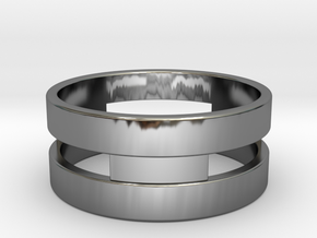 Ring g3 Size 6.5 - 16.92mm in Fine Detail Polished Silver