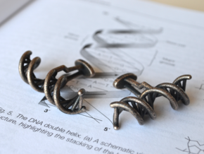 DNA Cufflink in Polished Grey Steel