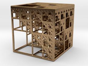 NewMenger Cube in Natural Brass