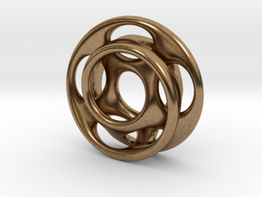 10 holes - interlocked moebius in Natural Brass