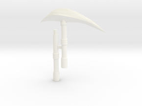 Nemesis Scythe in White Strong & Flexible Polished