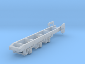 1/87th HO scale Semi-Truck Tridem drive frame  in Frosted Ultra Detail