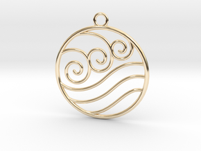 Avatar the Last Airbender: Water  in 14k Gold Plated Brass