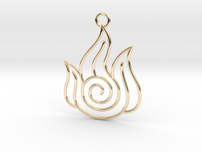 Avatar the Last Airbender: Fire in 14k Gold Plated Brass