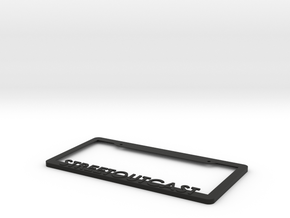 Streetoutcast License Plate Frame in Black Natural Versatile Plastic
