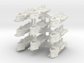 BFG Patrol Torpedo Boat Squadron (x3) in White Natural Versatile Plastic