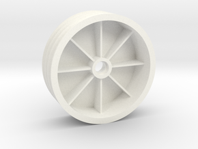 "NIX68521 Front TQ wheel 2.125"" (1pcs) in White Processed Versatile Plastic"