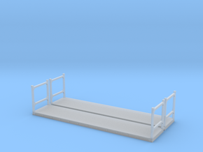 N Scale 40ft Flatrack Container #1 (2pc) in Smooth Fine Detail Plastic